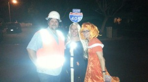 Halloween Hood Rats: Road Crew, I-405 and a Safety Cone