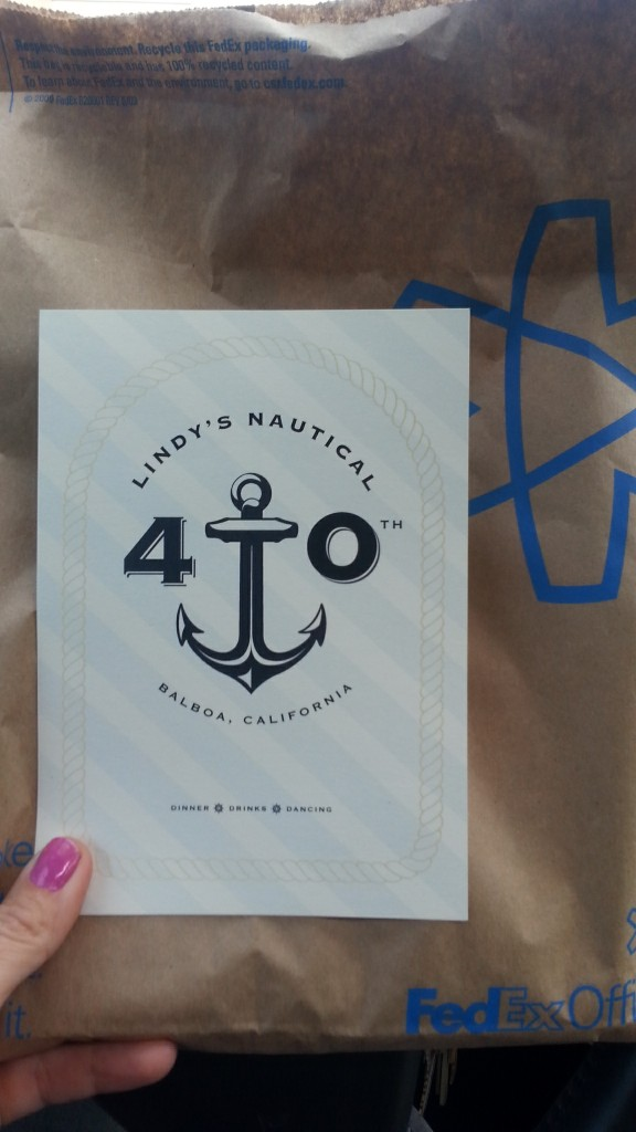 Lindy's Nautical 40th Invitation